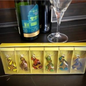 Pier 1 Glass Wine Charms NIB